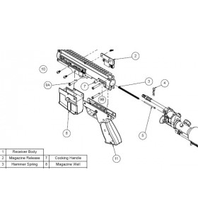 COMPLETE MAG RELEASE pour METAL MAG WELL MILSIG