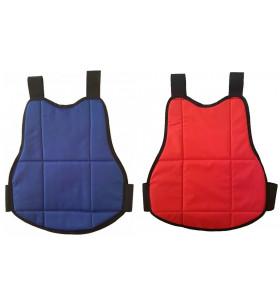 PLASTRON SOUPLE PROTECTION CORPS REVERSIBLE Bleu/Rouge - ENFANT