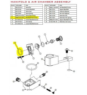 T15 - MANIFOLD SEAL O-RING - Joint Tiberius T15