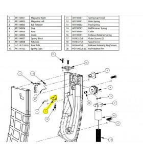 T15 - AR11M005 - PAWL - Pièce Chargeur T15