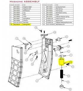 T15 - AR11M102 - SPRING TUBE - Pièce Chargeur T15
