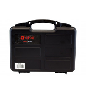 MALETTE DE TRANSPORT - PVC Noir ( L : 31 cm x l : 25 cm x H : 8 cm ) Mousse Préd