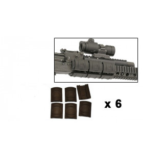 KIT UTG PLASTIC COVER x 6 CACHE - RAIL PICATINNY