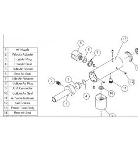 POWER TUBE : PARTS 5  SIDE AIR SOCKET